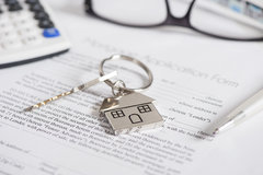 Stock Image - House Keychain (Mortgages/Housing)