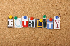 Stock Image - Equality Noticeboard