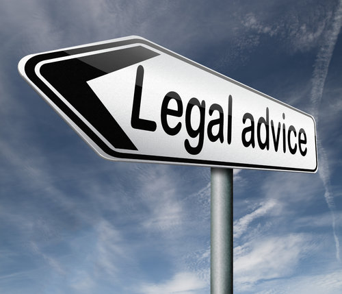 Stock Image - Legal Advice Sign