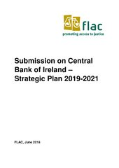 FLAC Submission on Central Bank of Ireland – Strategic Plan 2019-2021