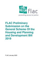 FLAC Preliminary Submission on the General Scheme Of the Housing and Planning and Development Bill 2019