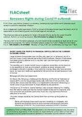FLACsheet: Borrowers Rights during Covid-19 outbreak Updated May 6th