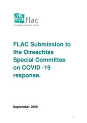 FLAC Submission to the Oireachtas Special Committee on COVID -19 response.