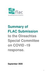 Summary of FLAC Submission to Covid19 Committee