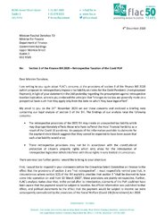FLAC Letter to Minister Pascal Donohoe
