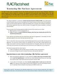 Publication cover - Factsheet_Termination of Hire Purchase Agreements_FINAL