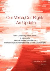 Publication cover - Update to Our Voice Our Rights (May 2015)