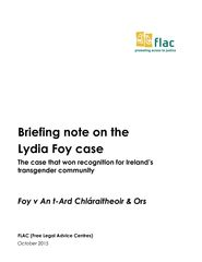 Briefing note on Foy Case