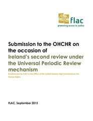 Submission: Ireland's Second Universal Periodic Review