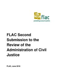 FLAC's second submission to the Review of Admin Civil Justice (June 2018)