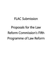 FLAC submission on the fifth programme of law reform